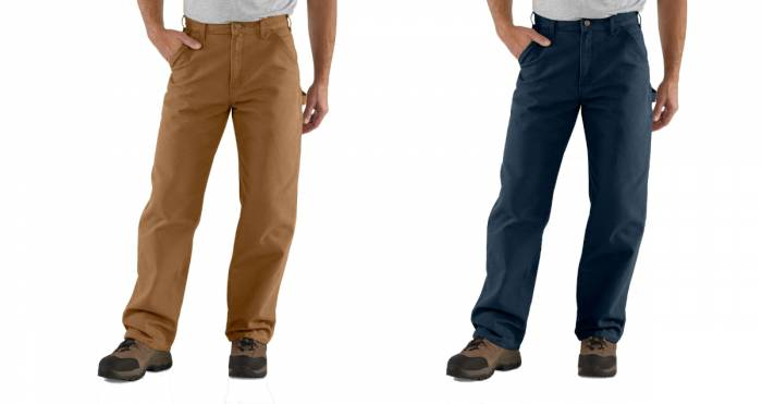 Carhartt washed front duck work pant