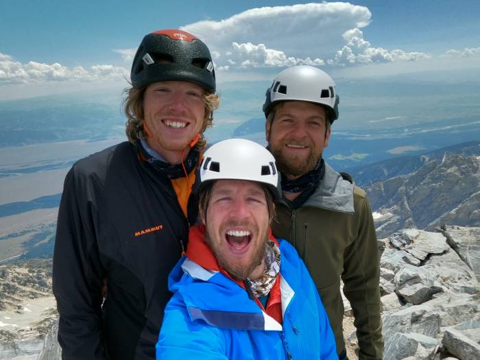 Rock Climbers at the Summit of the Grand Teton