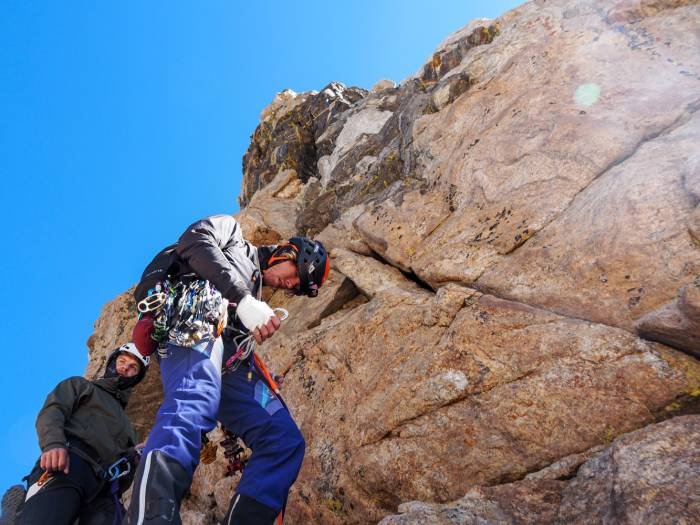 Climbing the Lower Exum Route