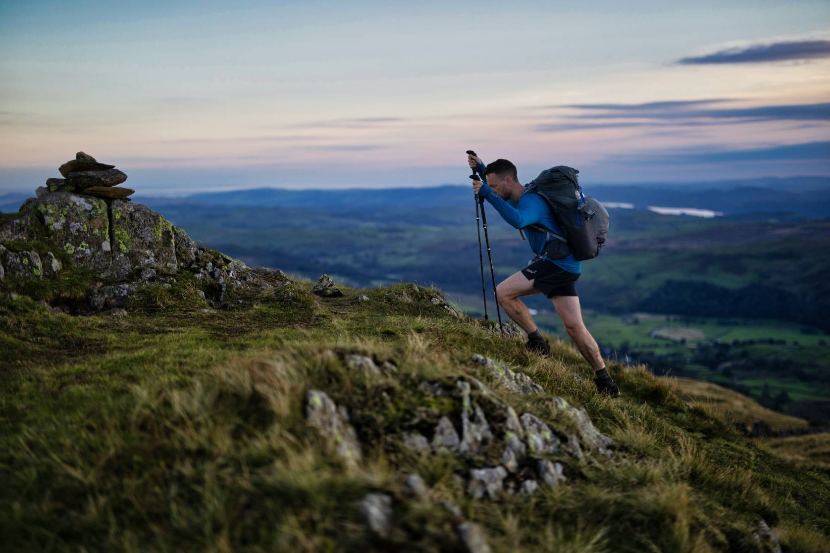 James Forrest hiking the wainwrights