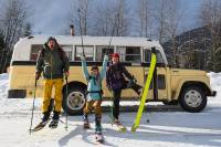 Made in Voyage school bus and skier
