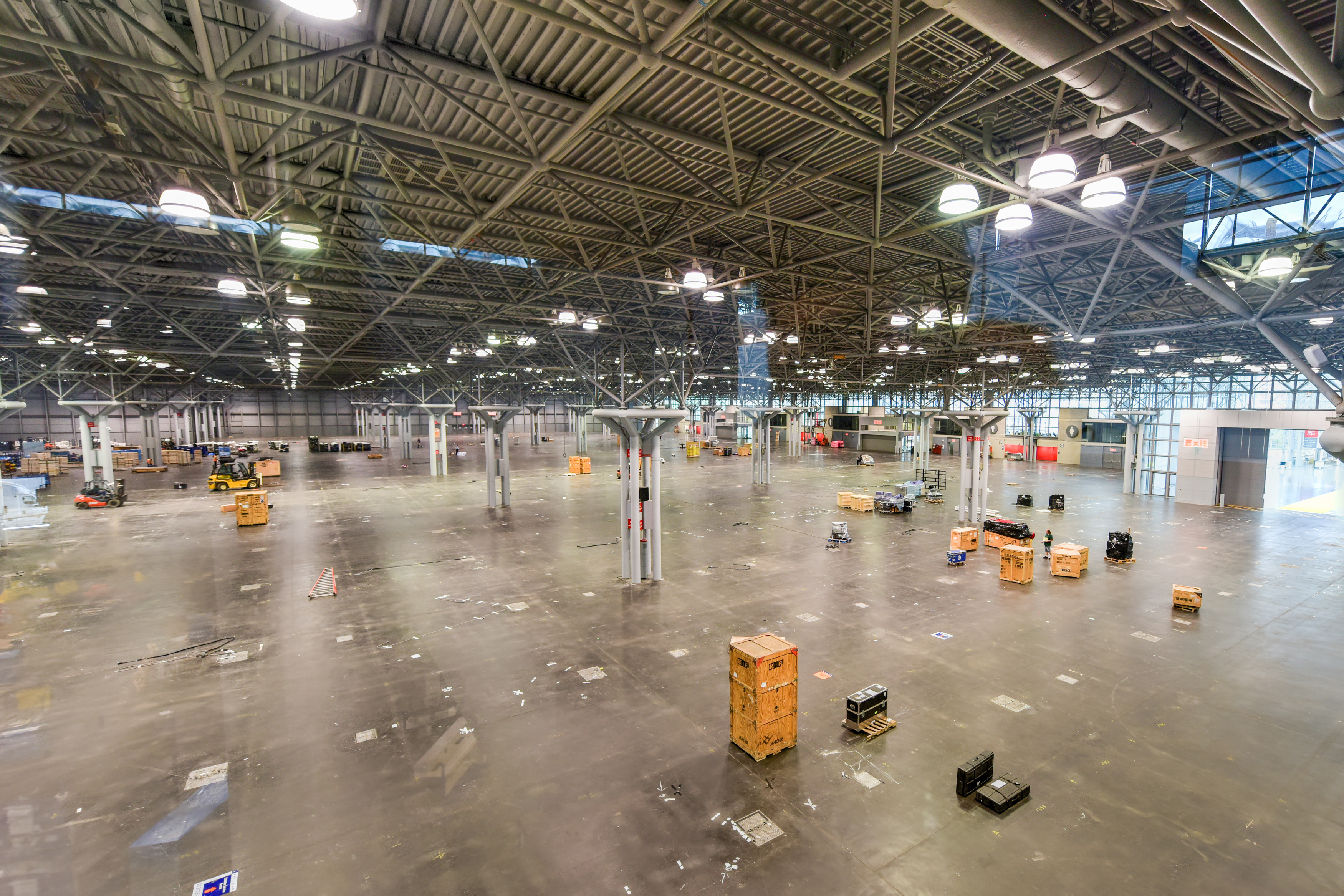 empty tradeshow