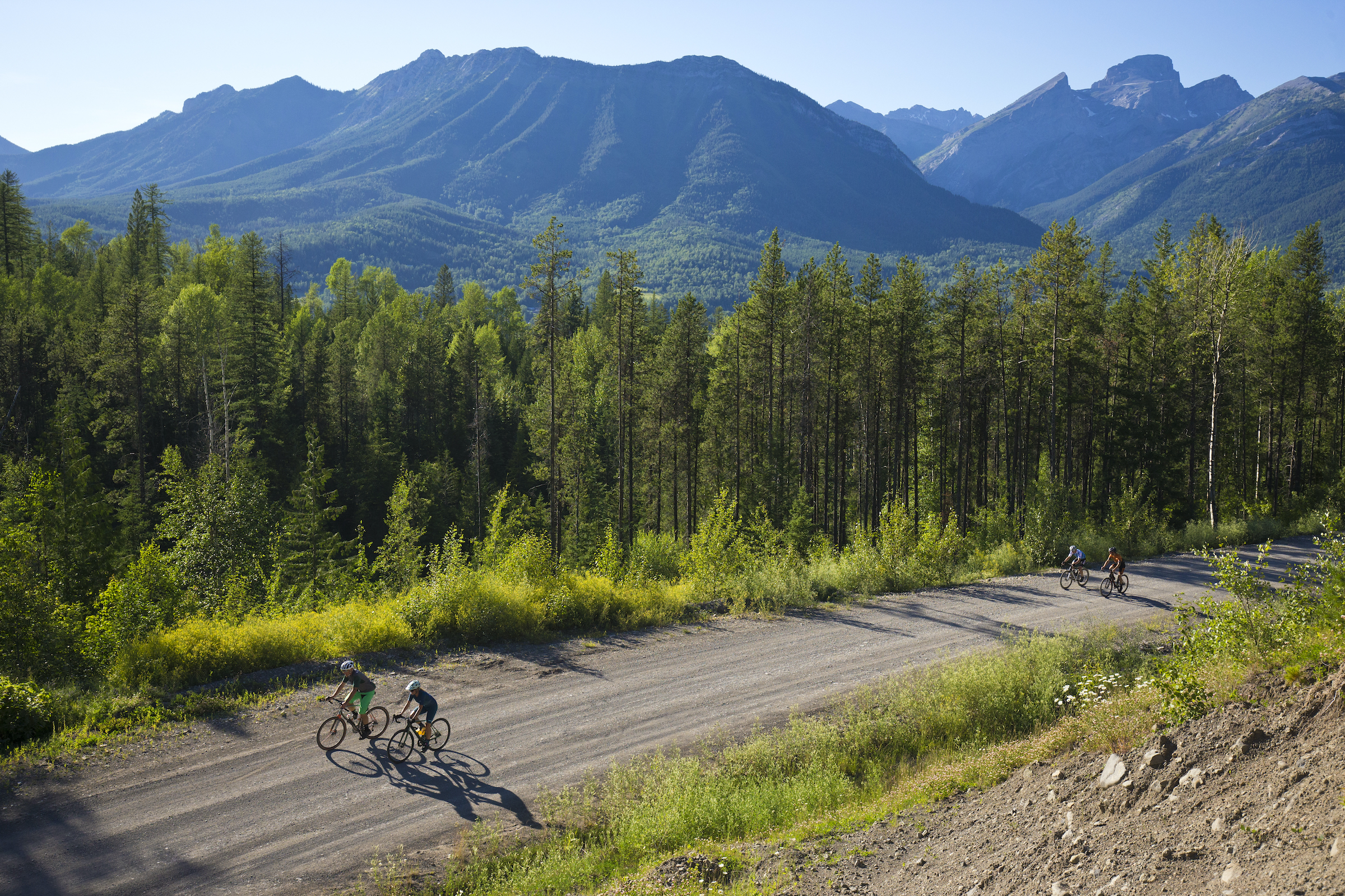 gravel riding in Fernie, B.C., Canada