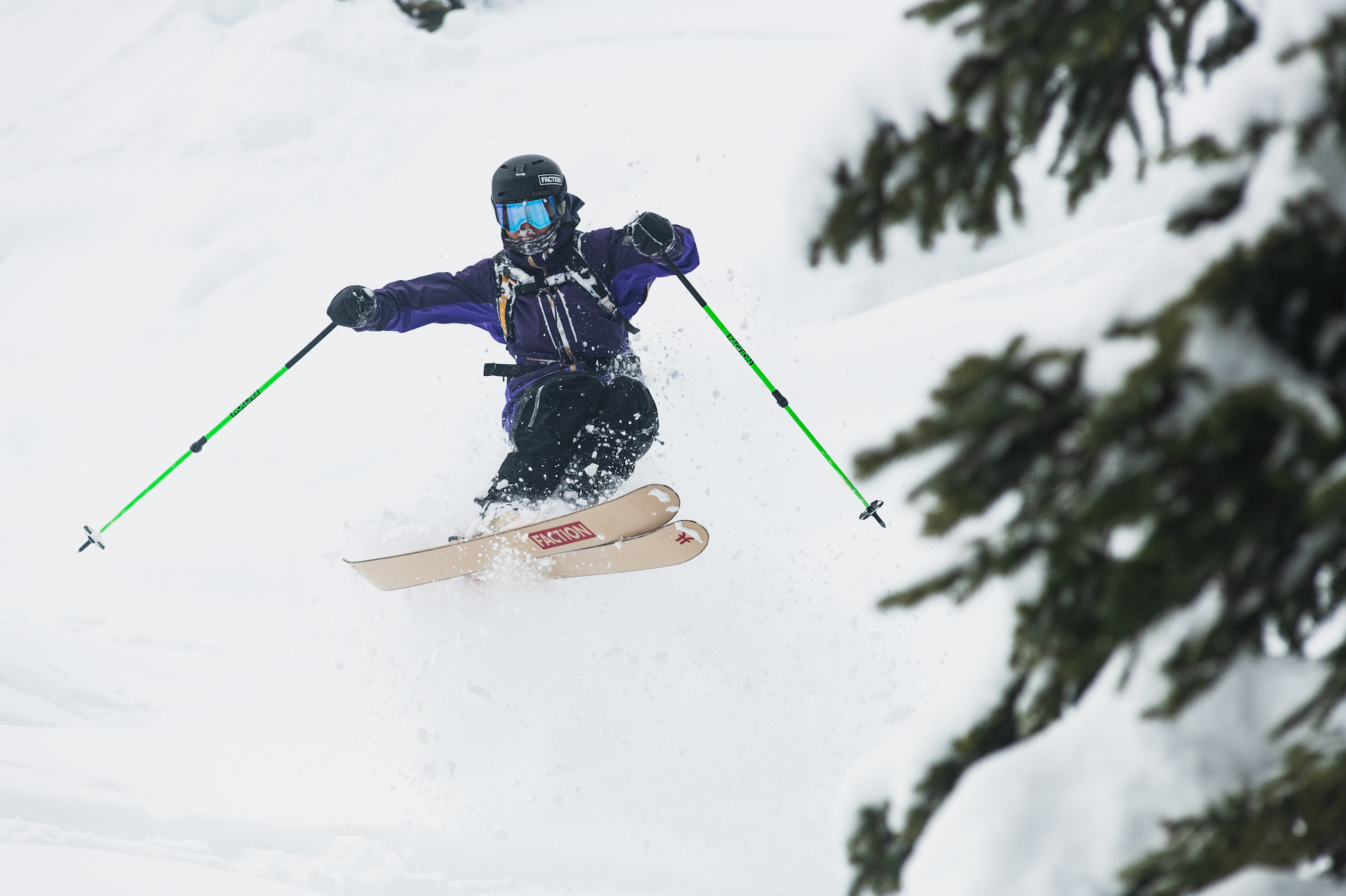 made in voyage skier mid air