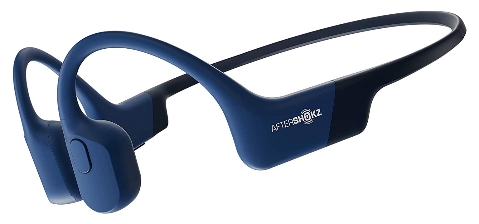 Aftershokz Aeropex headphones in blue