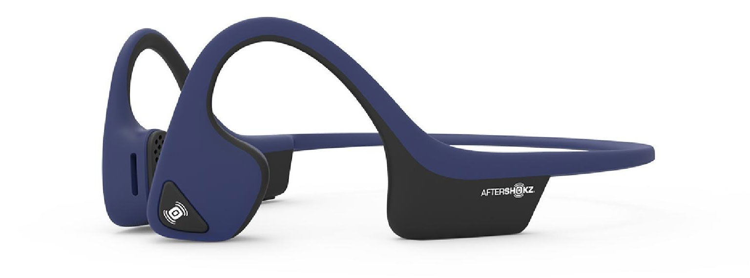 AfterShokz Air model headphones in navy
