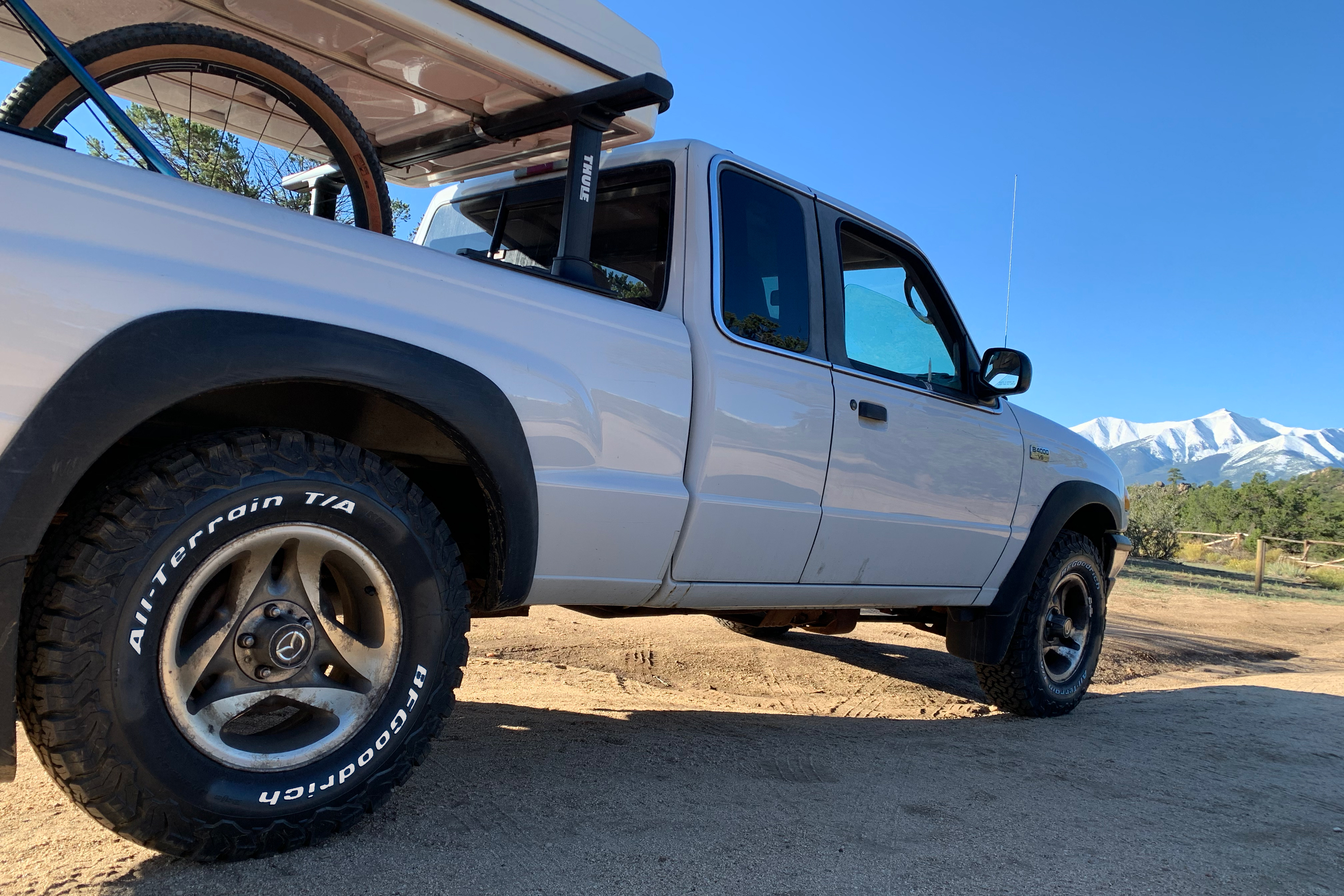 pickup truck dispersed camping off-road tires