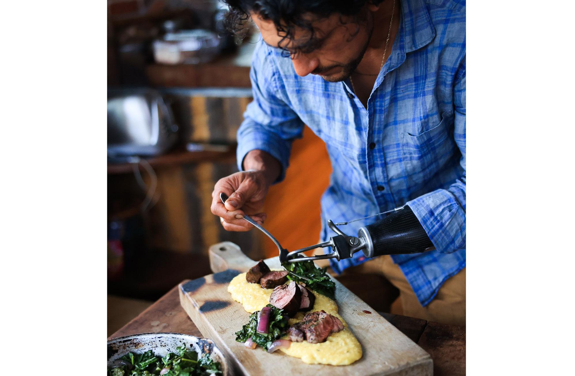 Eduardo Garcia cooking