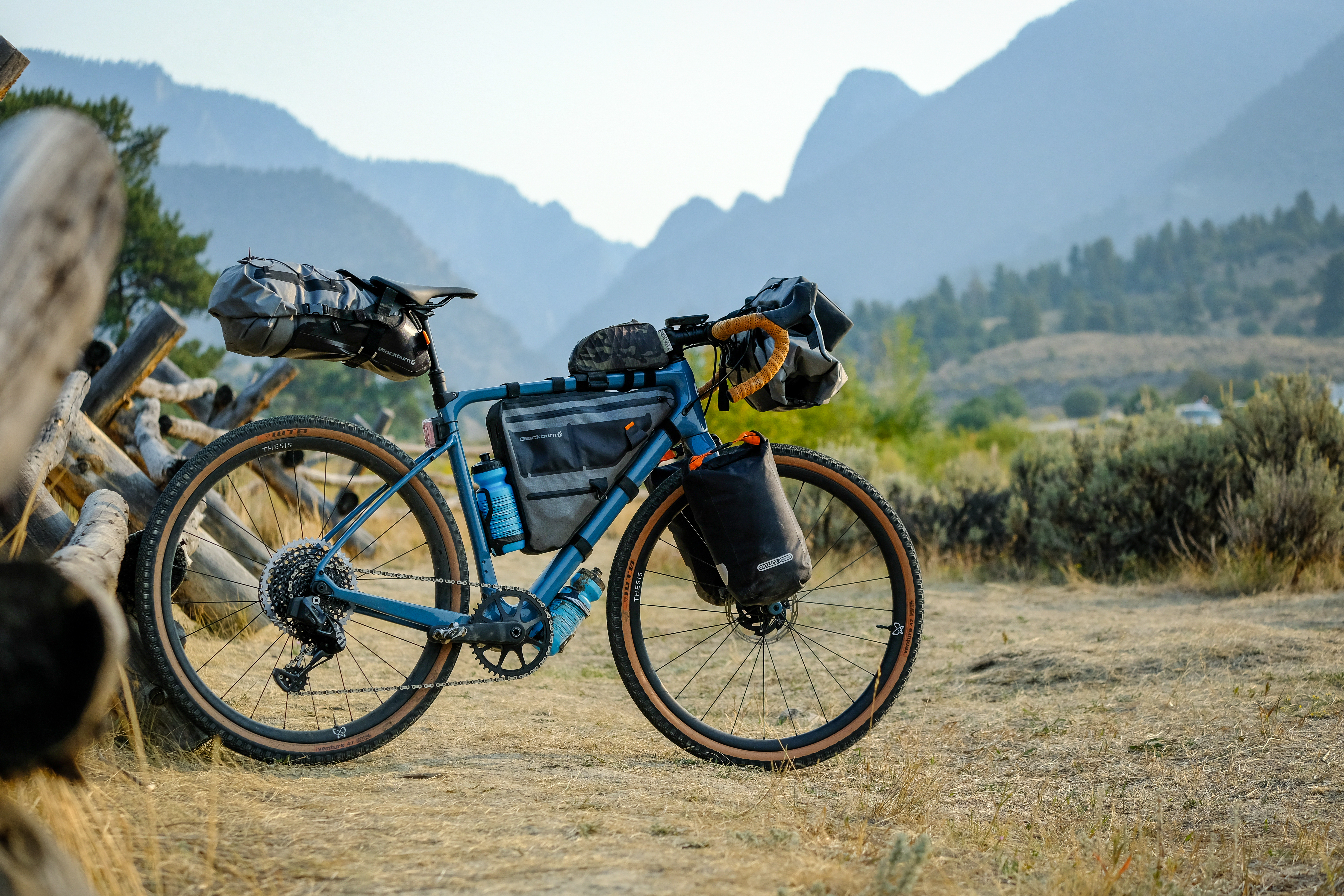 Thesis bike with bikepacking bags