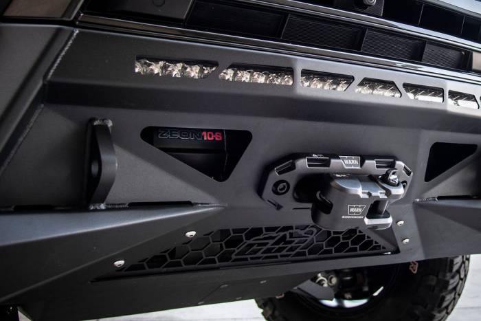 LX570 CBI bumper with Warn Winch