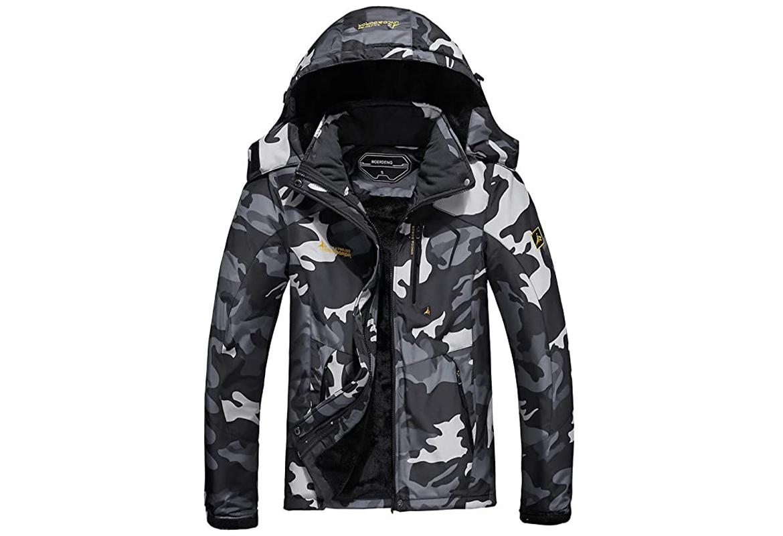 MOERDENG Men's Waterproof Ski Jacket 1