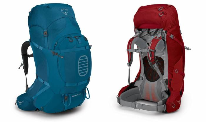 Osprey Aether and Ariel Plus backpack