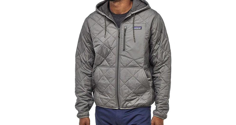 Patagonia Diamond Quilted Bomber Hooded Jacket