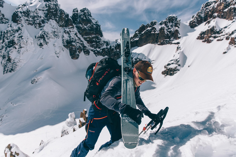 Backcountry skiing mountain