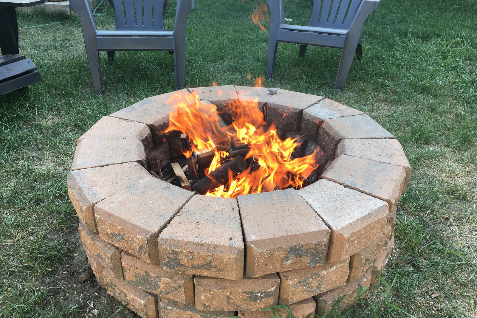 fire pit wall