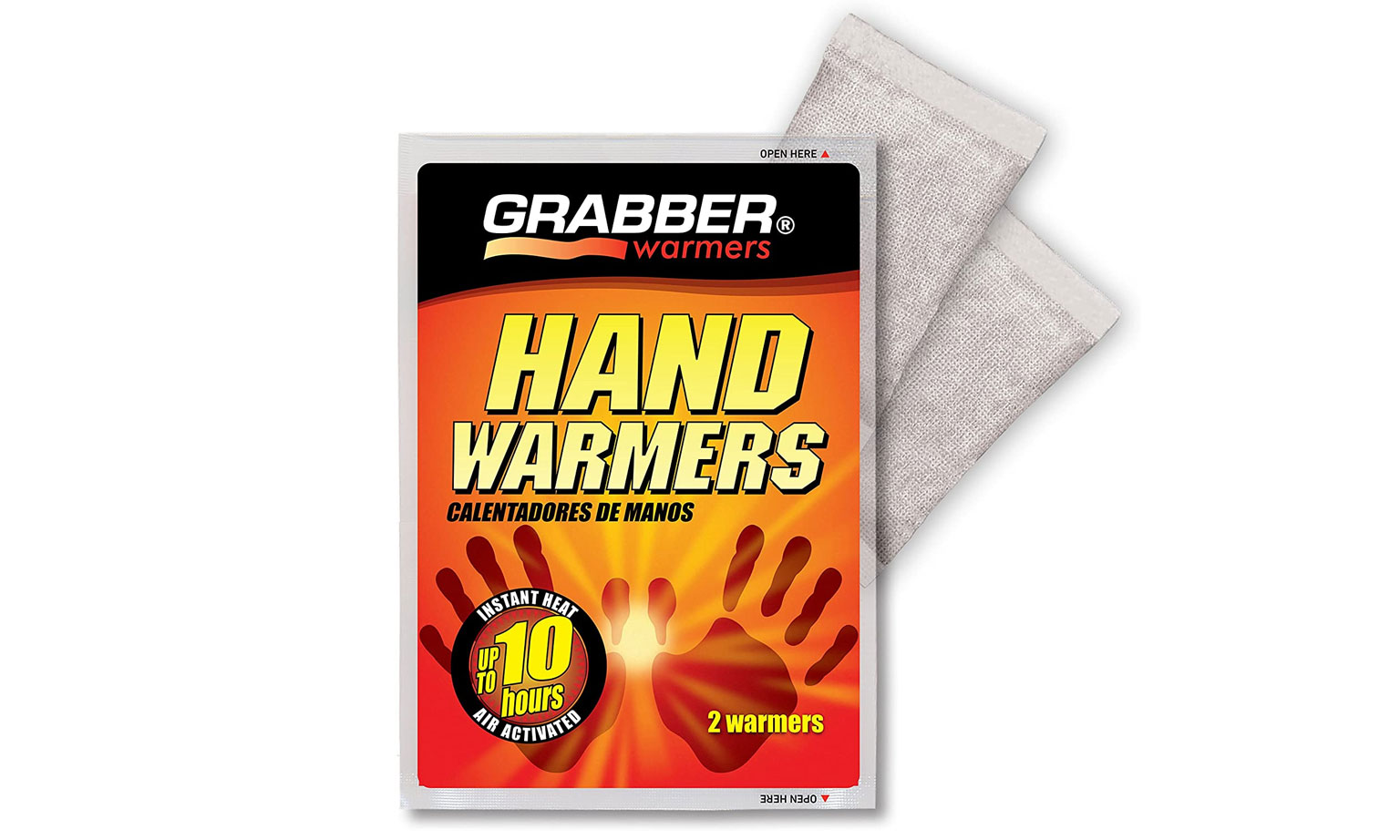 packet of Grabber 10-hour hand warmers