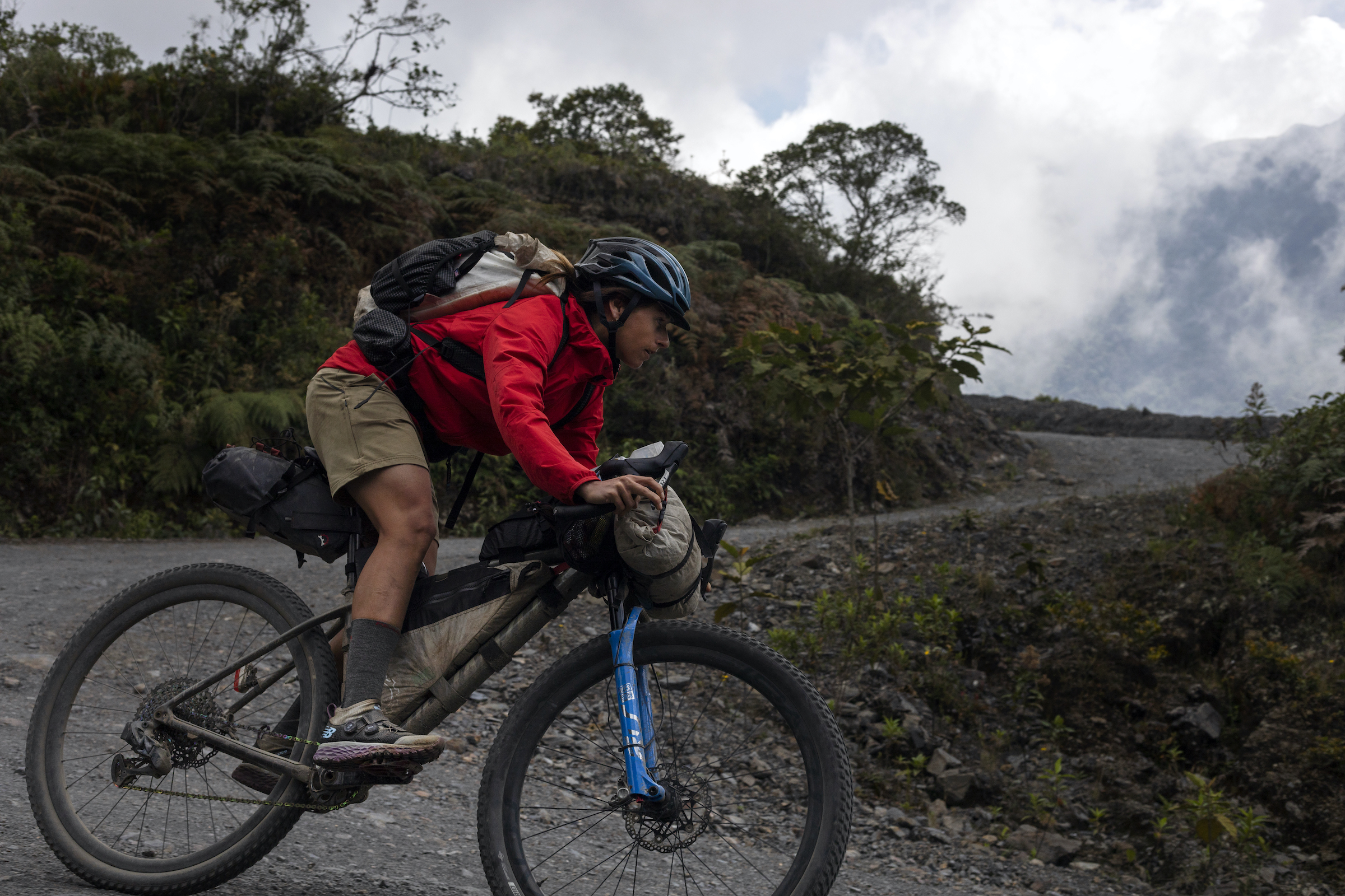 Lael Wilcox riding the Colombia route