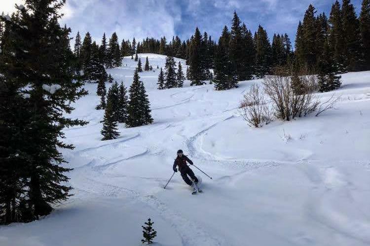 practice skiing