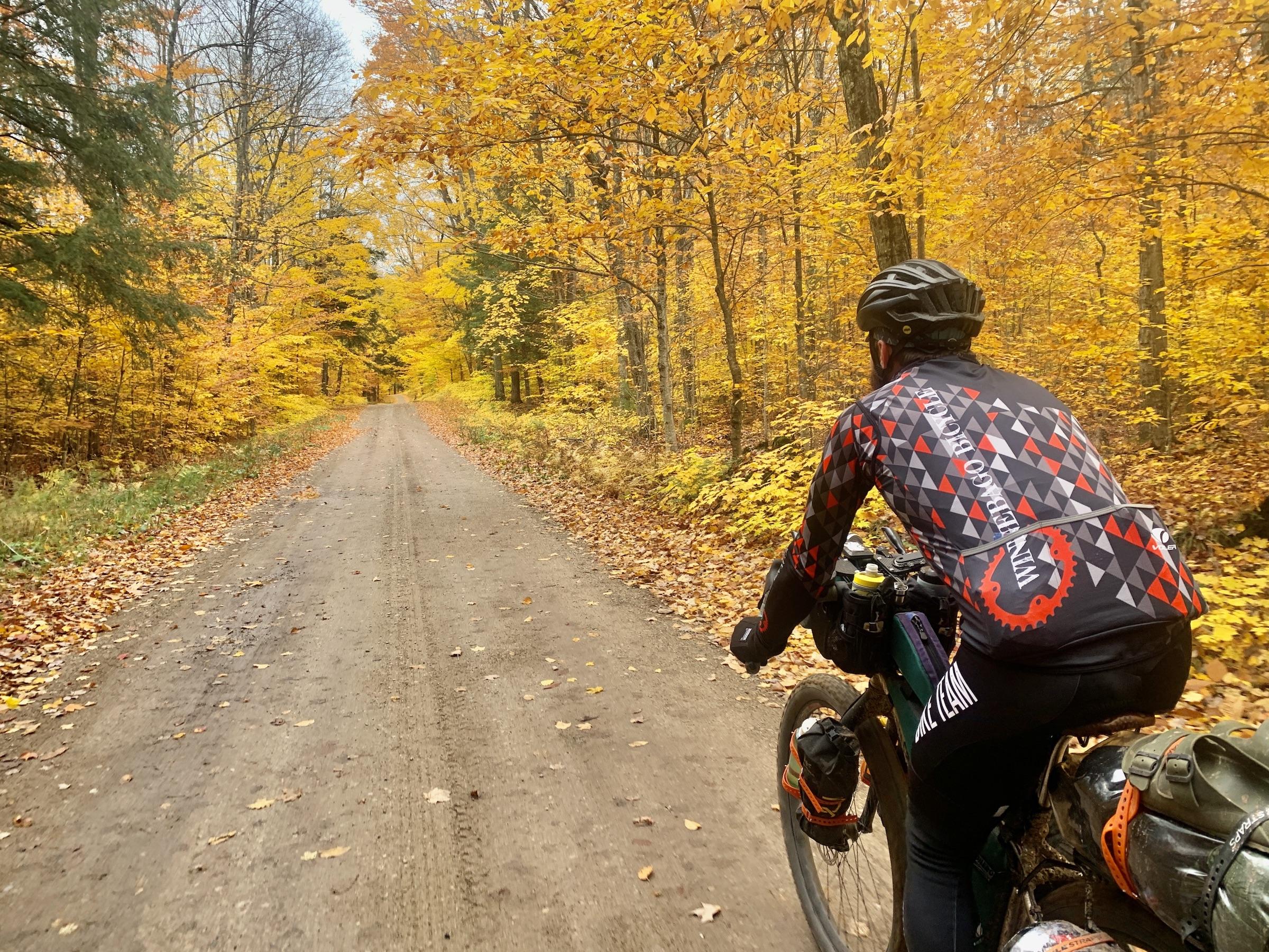 project adventrus bike ride through fall colors