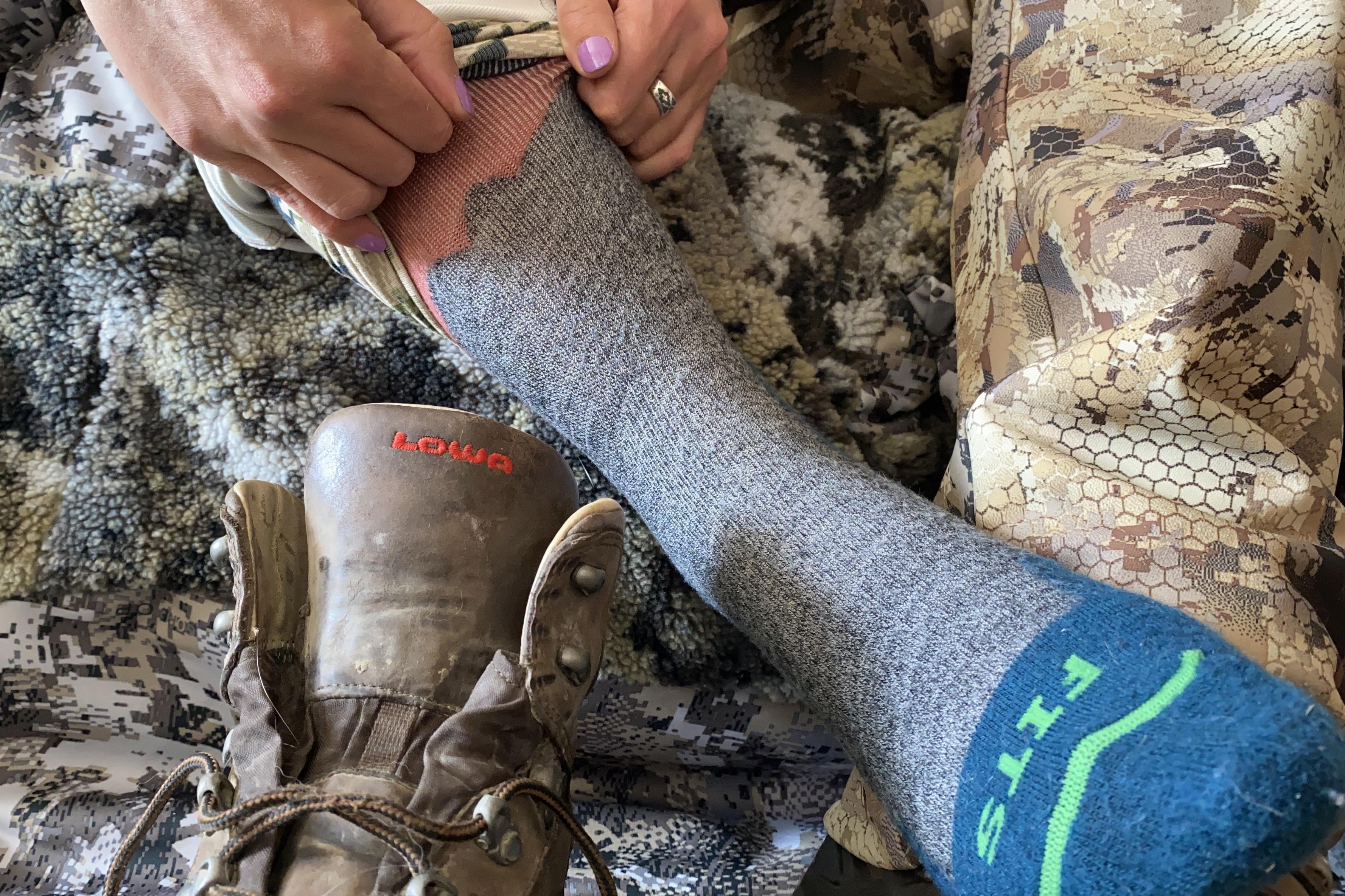 hunting socks, FITS socks, LOWA boots