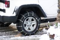 tire chain in the snow