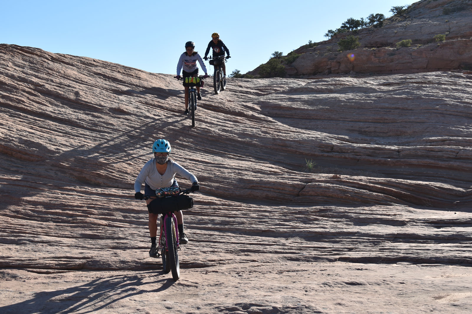 navajo youth riding bikes