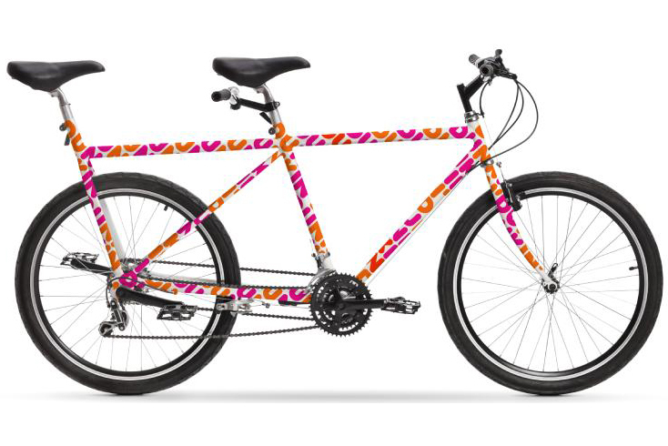 Dunkin' Donuts tandem bicycle