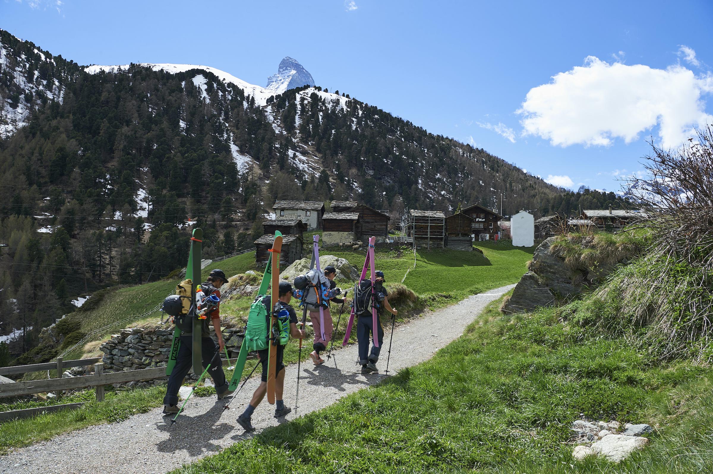 Faction skis skiers verbier film