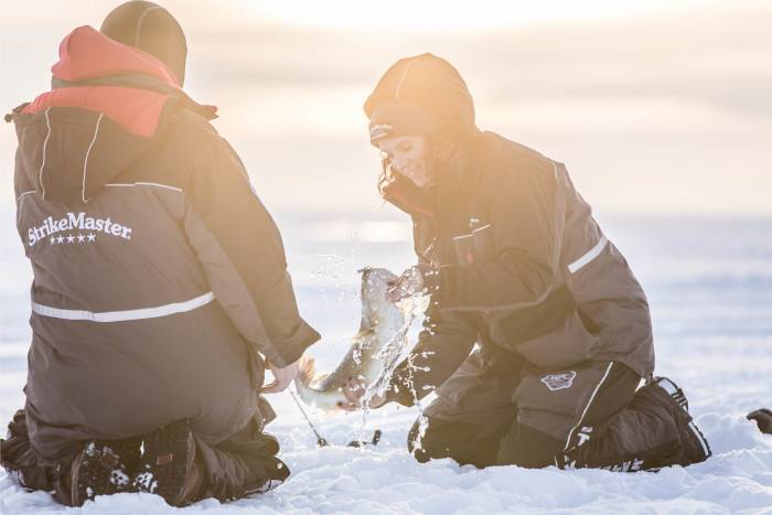 Rapala StrikeMaster SOS suits ice fish safety
