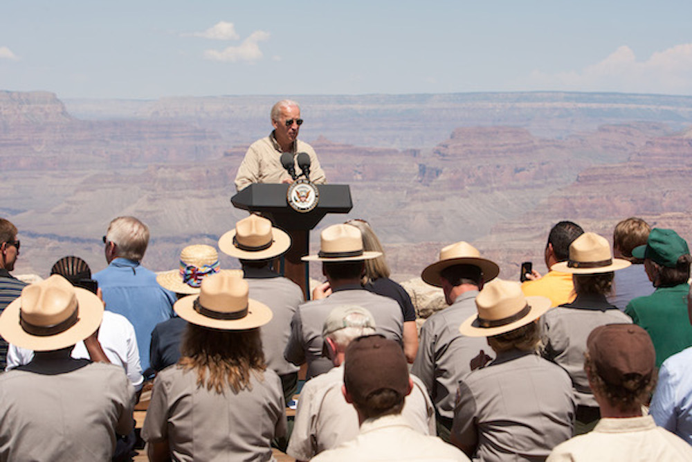 Biden in Grand Canyon National Park