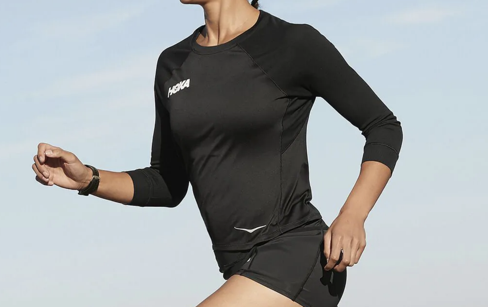 hoka 3/4 long sleeve shirt