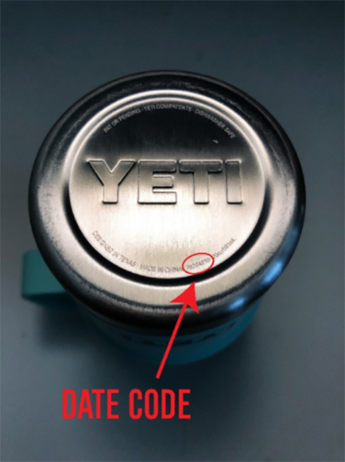 Yeti date code