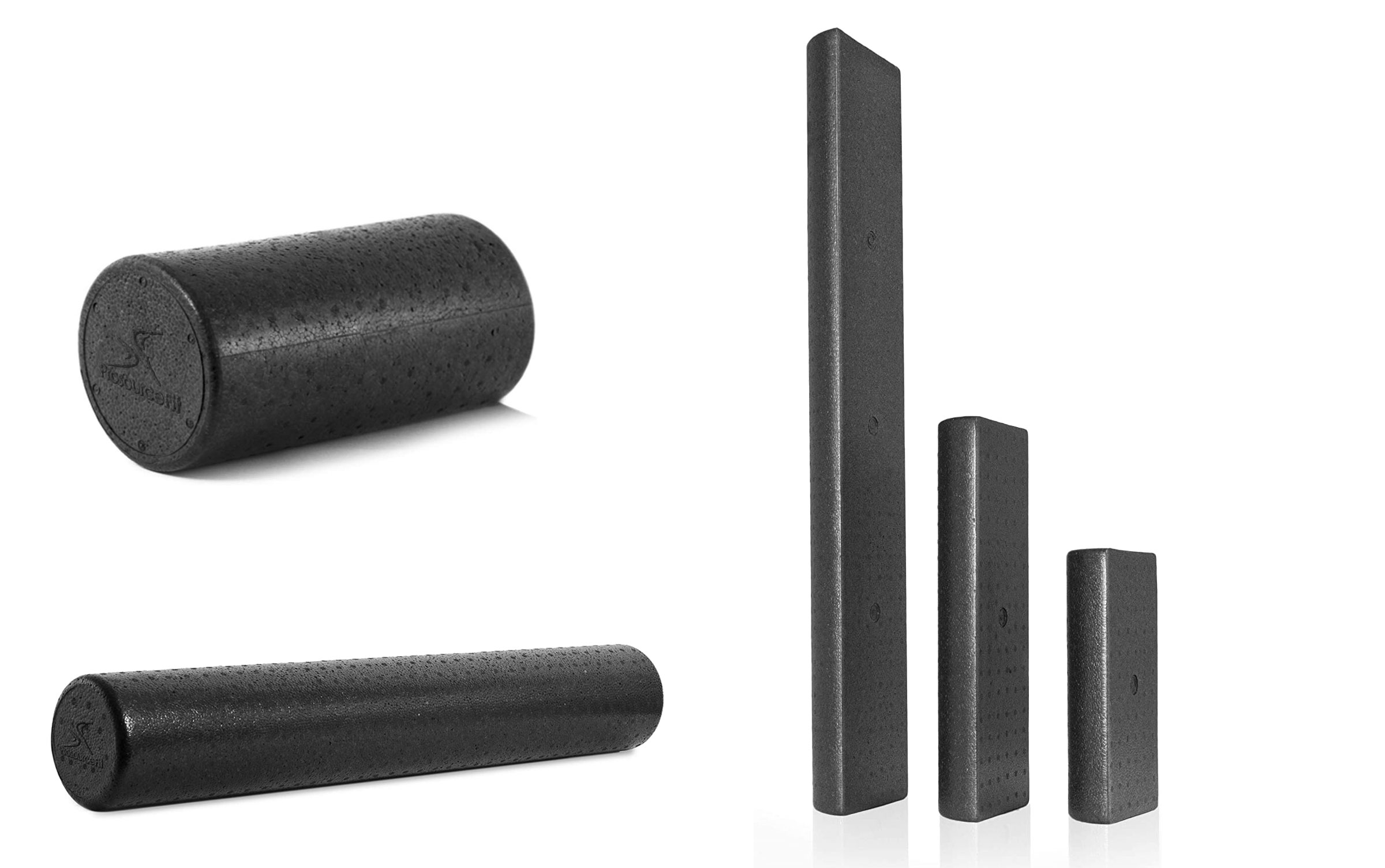 ProsourceFit High-Density Full and Half-Round Foam Rollers