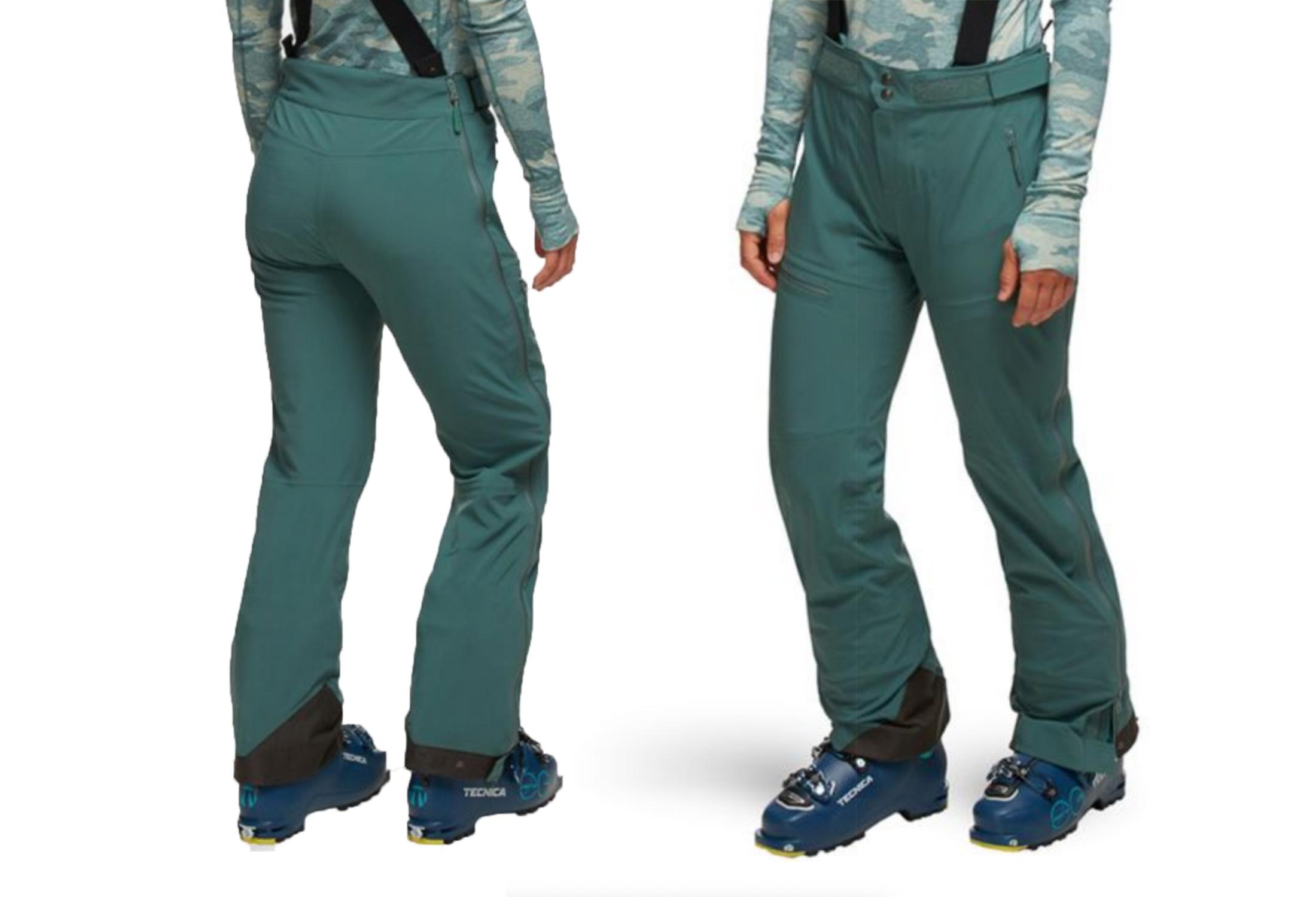 US Women Ski Snow Pants Soft Shell Trousers Waterproof Warm Fleece Multipurposes