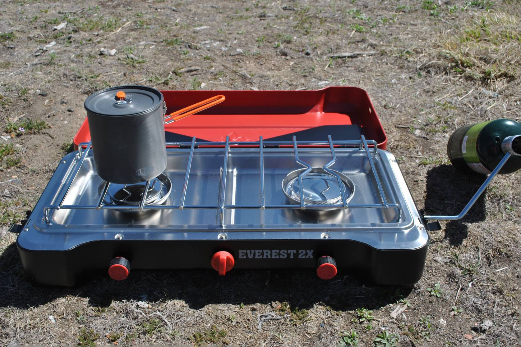 Camp Chef Everest 2x High Pressure Stove open