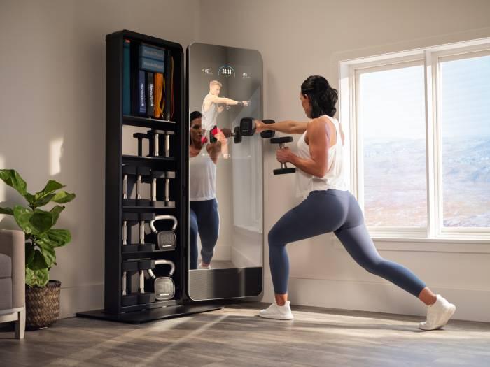 NordicTrack Vault lunge workout mirror