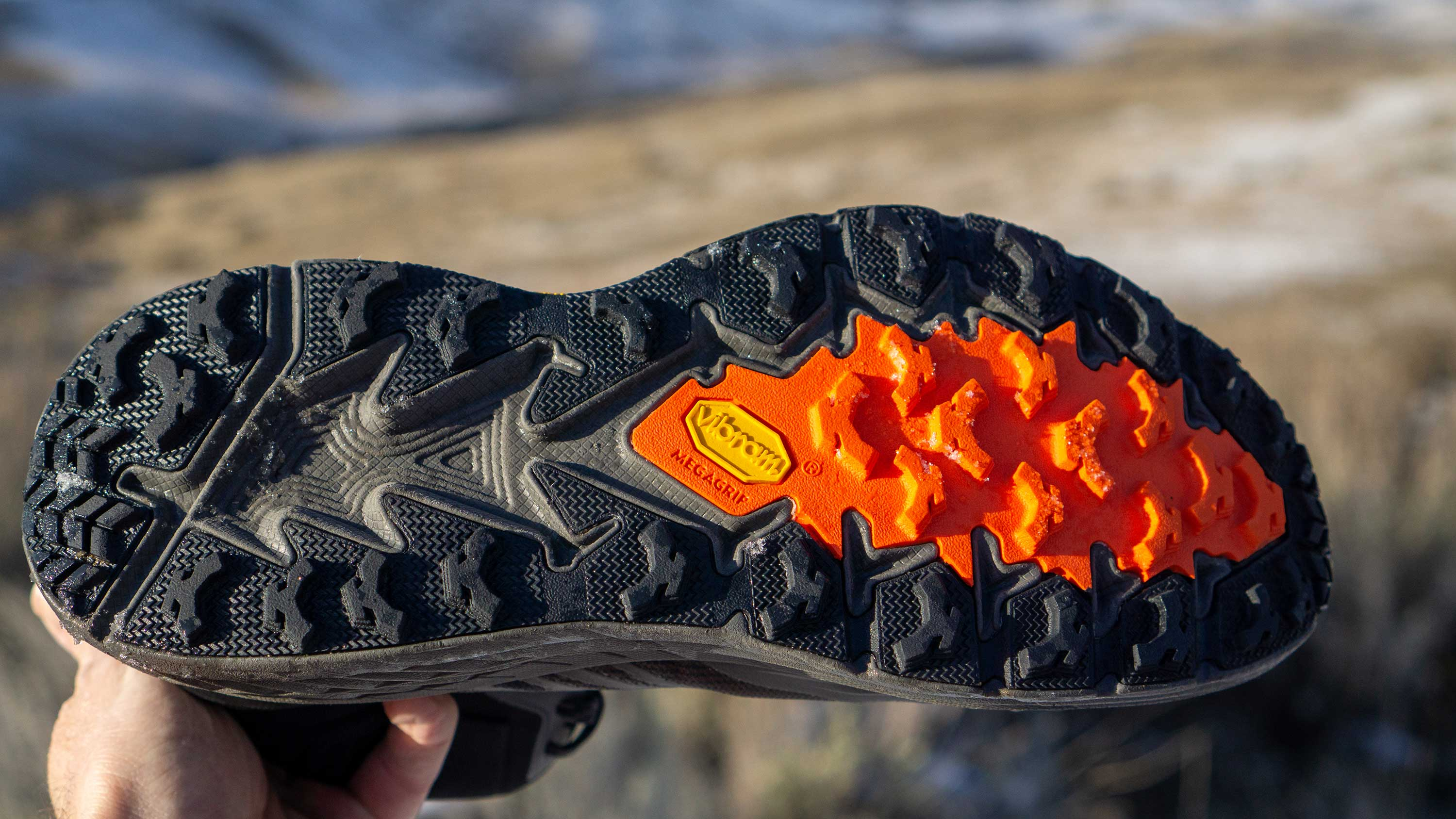Traction on the Hoka One One Speedgoat Mid 2 GTX