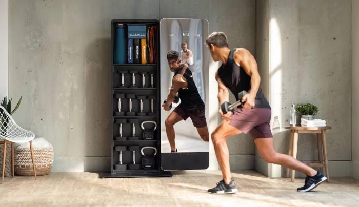 NordicTrack Vault weight workout mirror