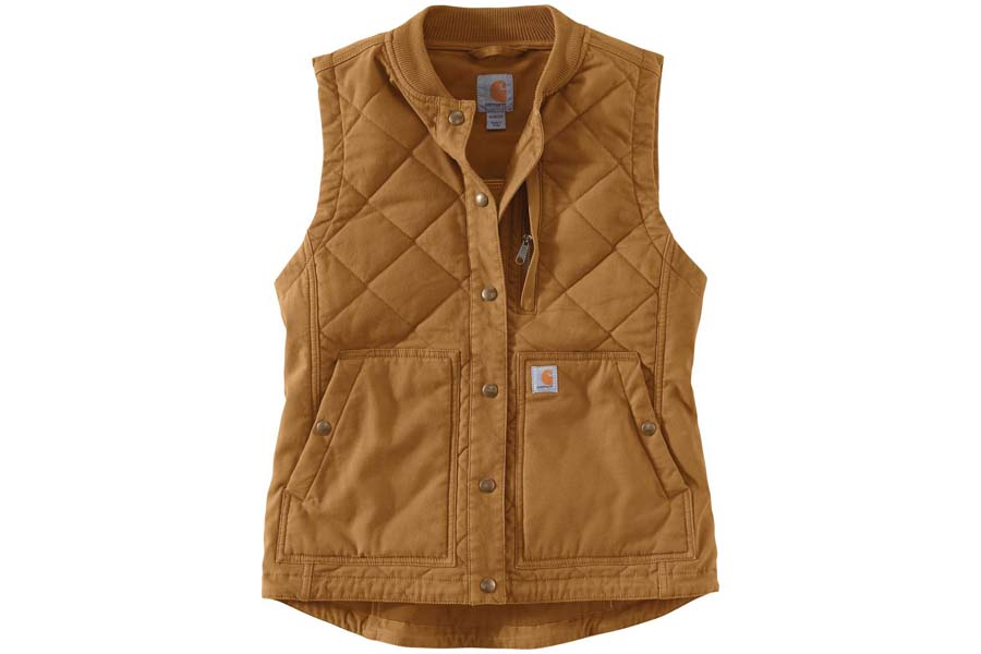 carhartt rugged flex canvas insulated rib collar vest