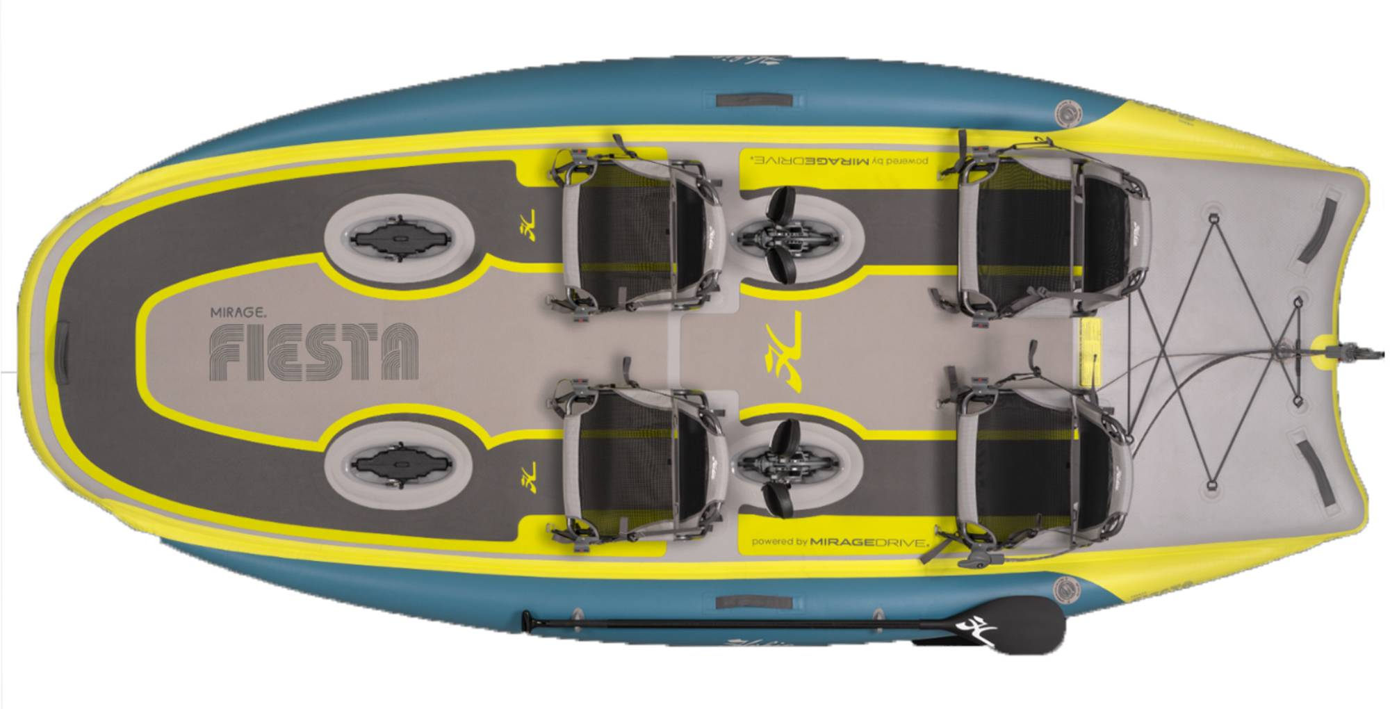 hobie fiesta inflatable 4 person kayak