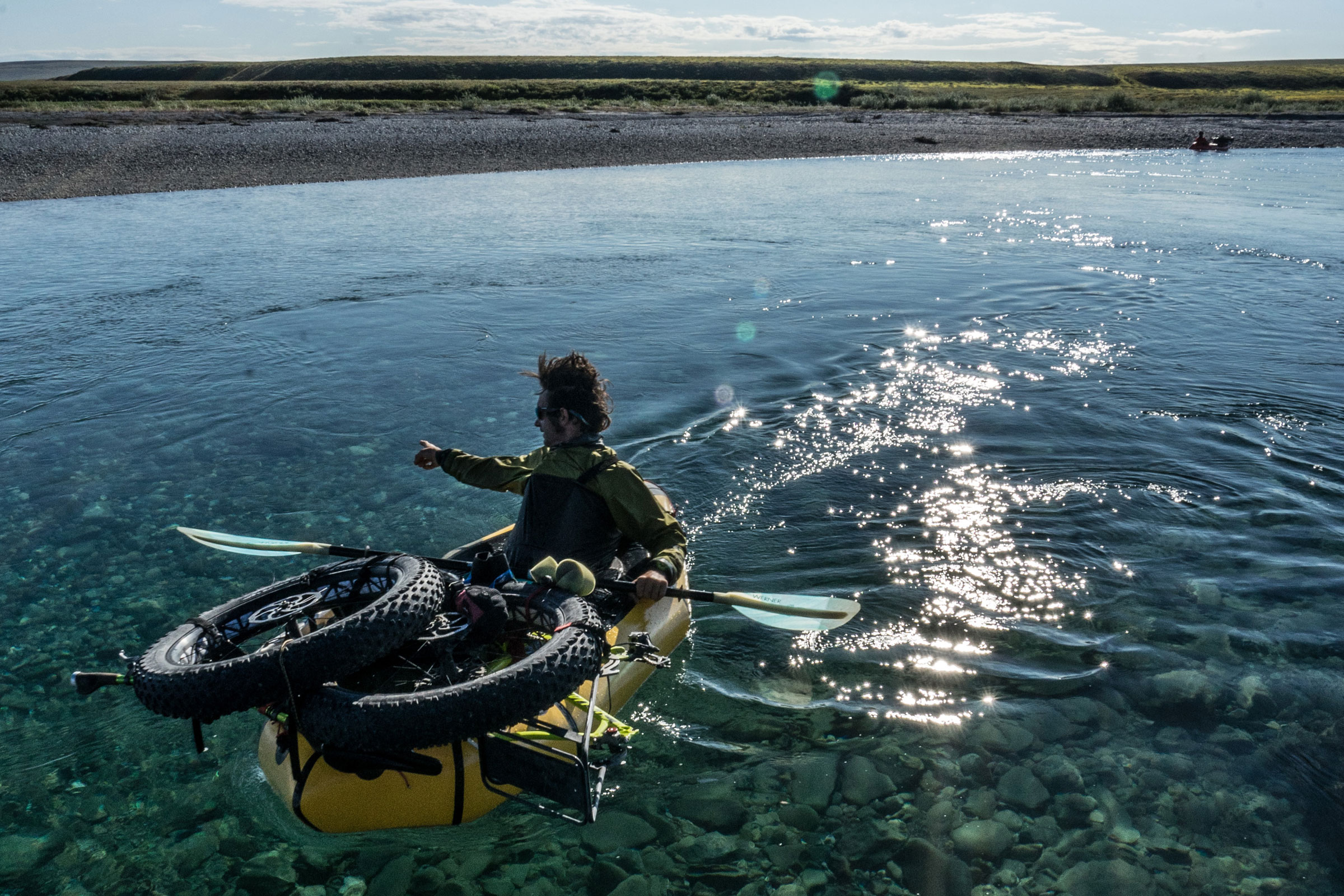how to lash a bike to a packraft