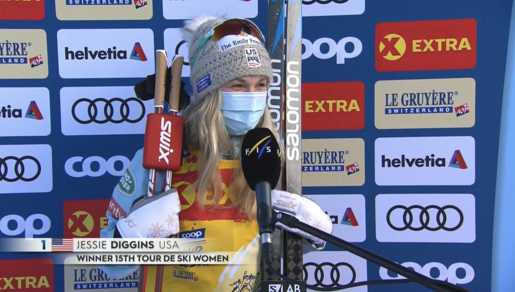 jessie diggins team usa tour de ski win 2021