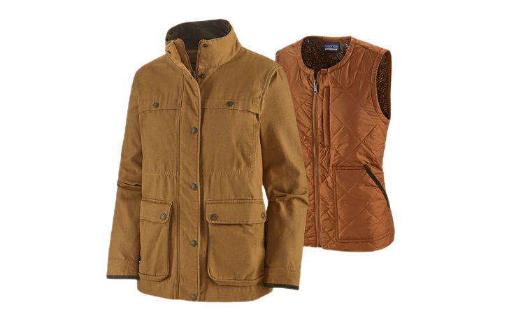 patagonia women's prairie dawn 3-in-1 barn coat