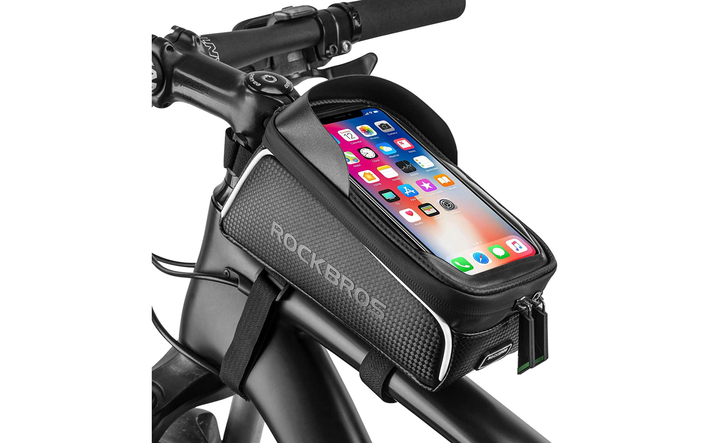 rock bros bike phone front frame bag