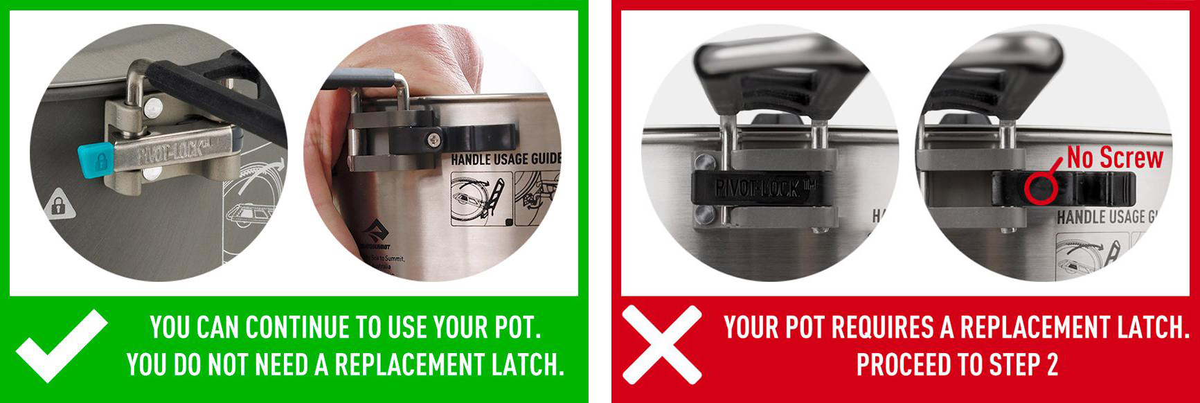 Sea to Summit cook pot latch recall