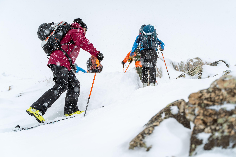 Skinning in skis with Fischer Transalp