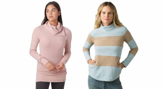 Kavu and Prana Sweaters