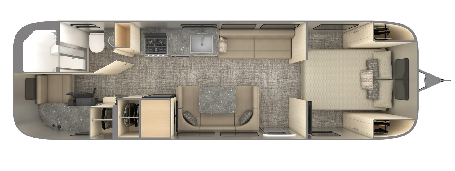 airstream office trailer layout