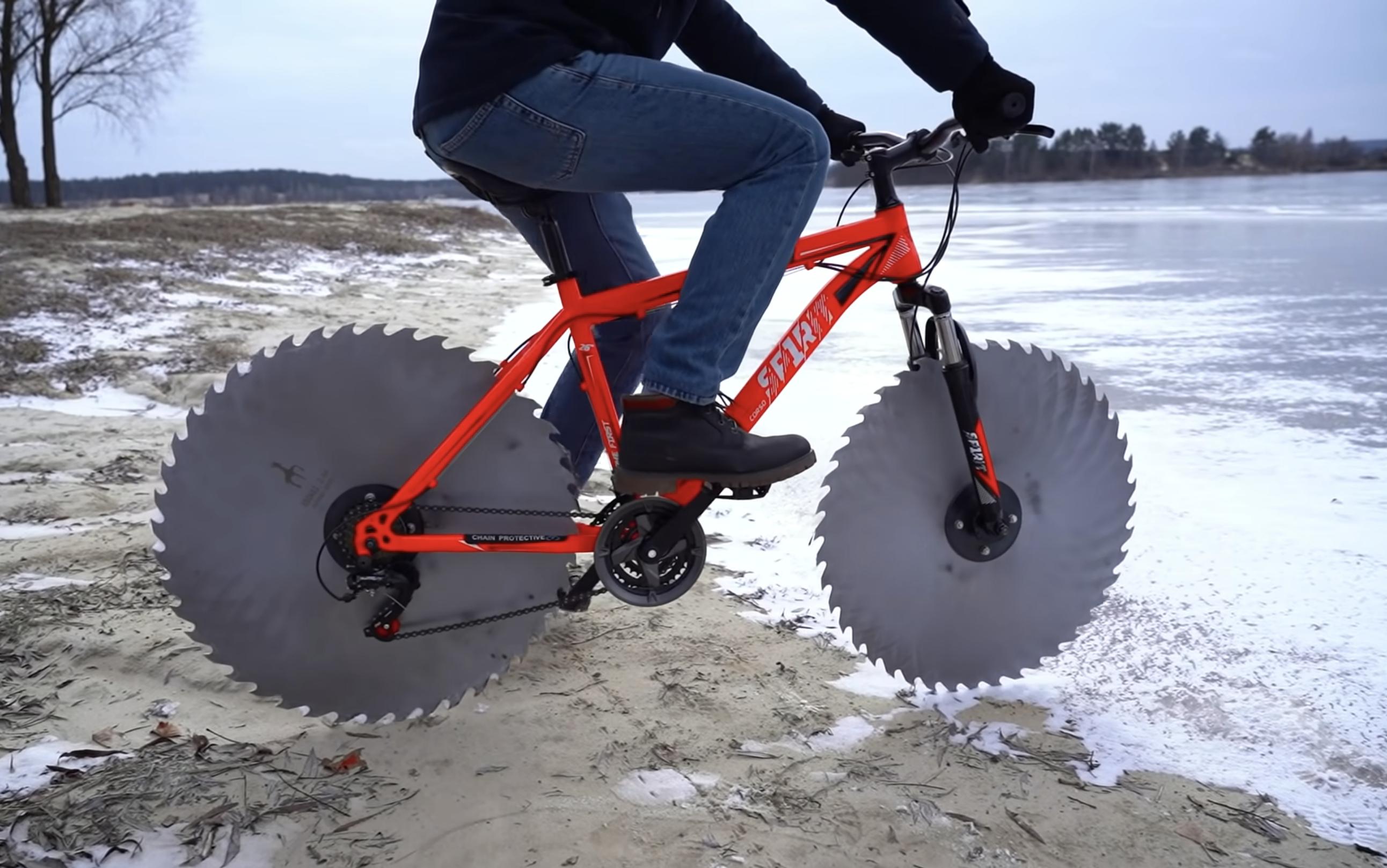 icecycle saw bike