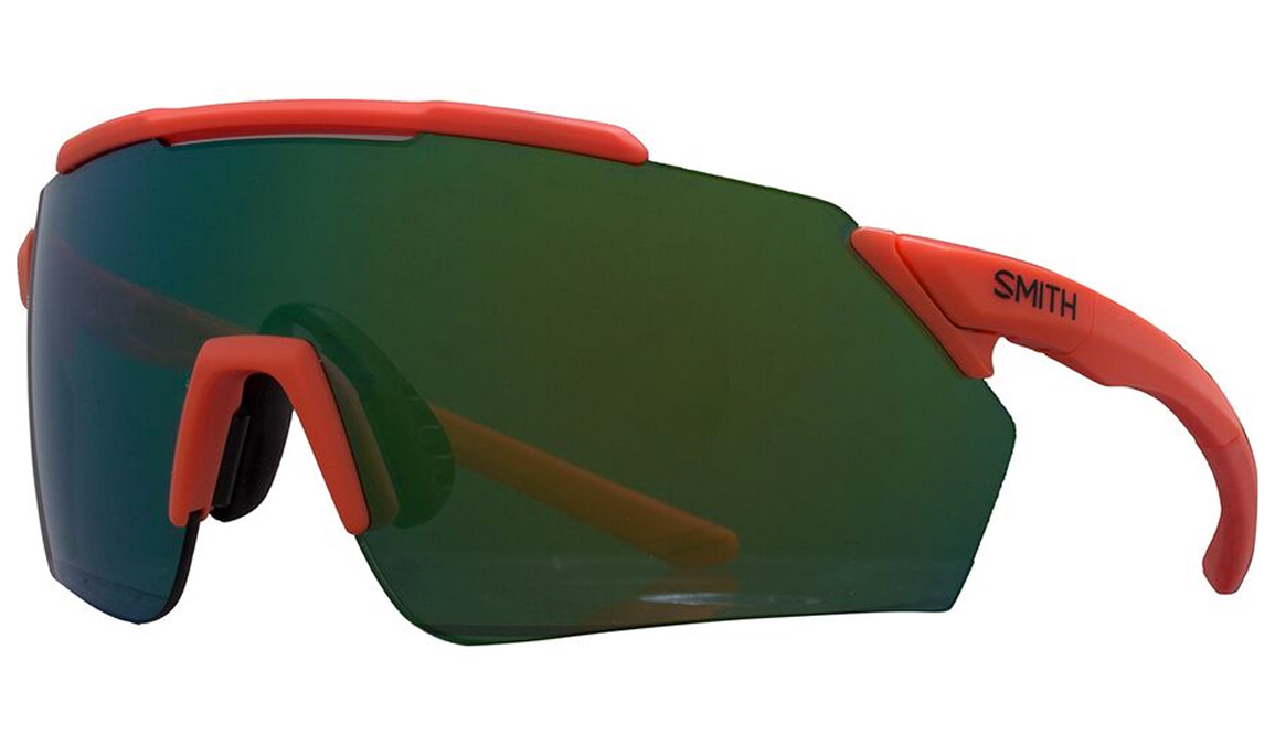 Smith Ruckus chromapop glasses with green mirror tint